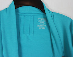 Nice LL Bean M size Blue Fly Away Womens Jacket Stretch & Pockets