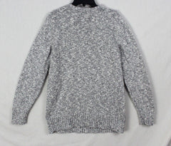 Casual LL Bean L size Cotton Sweater Black White Flecked Womens