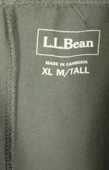 LL Bean XL Tall Size Pants Womens Comfort Easy Wear Stretch Green Elastic Waist