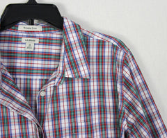 The Perfect Weekend shirt By LL Bean Pink Plaid L size Womens Cotton Soft Easy Wear Shirt - Jamies Closet - 6