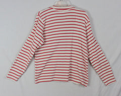 Nice LL Bean XL size Top 1.4 zip Stretch Red Ivory Turtleneck