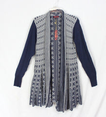Cute New Bestow Cardigan Sweater 2xl size Blue Gray Womens Open Front Work Casual