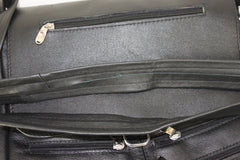 Black Cross Body Purse Zip Pockets Med Large Size Handbag Nice Quality