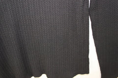 New Charter Club L size Black Turtleneck Sweater Womens Cable Knit