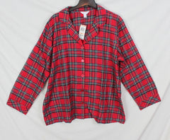New Charter Club Flannel PJ Set 2x sz Red Green Plaid and Soft