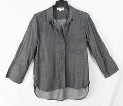 Cloth & Stone Blouse M size Gray Tencel Top Career Casual Shirt