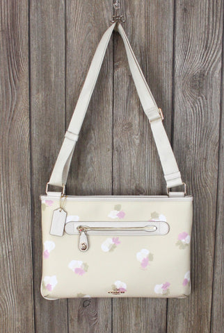 Cute COACH Crossbody Taylor Beechwood Field Floral Messenger Purse