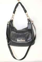 Coach Kristin Black Leather Hobo Bag Purse L1026 16808 Crossbody