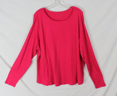 New Coldwater Creek Blouse 2x size Magenta Pink Stretch Top