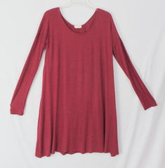 Corner Clothing Dress M L XL size Burgundy Cranberry Red Tunic Career Casual USA