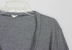 Nice J Crew Cardigan Sweater XL size Gray Black Lightweight Womens Vneck Work Casual