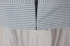 Super Cute Daughters of the liberation Jacket 2 xs size Blue White Striped Box fit Anthropologie - Jamies Closet - 5