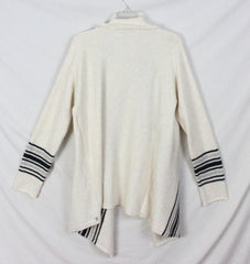 Cute Eddie Bauer Sleepwear L size Cardigan Sweater Ivory Gray Black Soft Cotton Blend Womens