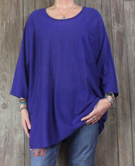 Nice Eileen Fisher L XL size Blouse Light Blue Linen Tunic Top Womens Loose Shirt