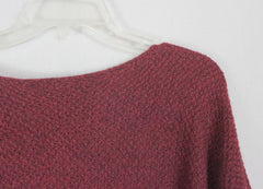 Cute Eileen Fisher L size Sweater Burgundy Aline Alpaca Womens Casual Art Wear