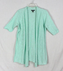 Nice Eileen Fisher M size Cardigan Sweater Light Green Open Front