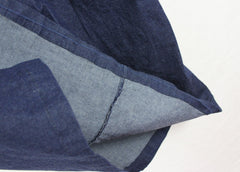 Nice Eileen Fisher 1x size Denim Blue Skirt Side Vents Elastic Waist Womens Plus