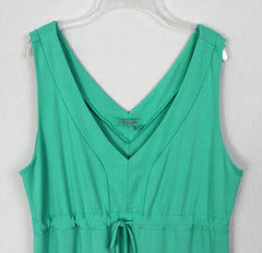 Cute Fresh Produce Dress M L size Green Vneck Tank Womens Rayon USA Made Beach Comfort