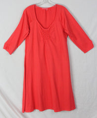 Cute Fresh Produce Dress L size Orange Stretch Rayon Easy Wear Womens