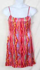 Girlfriend dress L M size New Silk Slip Style Lined Spaghetti Strap Multi Color - Jamies Closet - 1