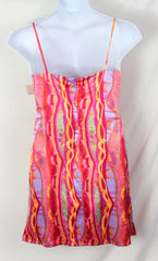 Girlfriend dress L M size New Silk Slip Style Lined Spaghetti Strap Multi Color - Jamies Closet - 4