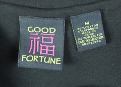 Super Cute Good Fortune Black Jacket M L size Cotton Blend Ruffled Box fit 3.4 Sleeve - Jamies Closet - 9