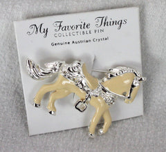 Pretty Horse Brooch Austrian Crystals My Favorite Things