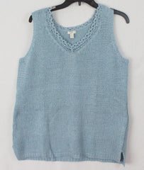 J Jill New 1x size Tank Sweater Top Wedgwood Blue Career Casual Plus Womens 45$
