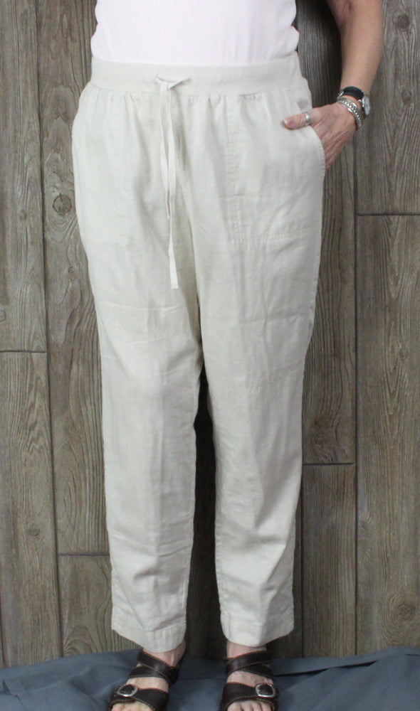 New J Jill Lightweight Pants 1x sz Beige Khacki Womens Stretch Waist