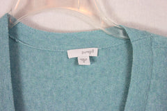 Nice Pure J Jill M L size Cardigan Sweater Light Blue Womens Soft Casual Pockets