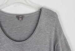 Nice J Jill M L size Gray Tunic Top Sweater Dress