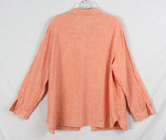 J Jill XL size Blouse Burnt Orange Embroidered Lightweight Tunic Top