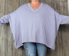 Pure J Jill New Sweater M L size Light Purple Loose Box Fit Tunic