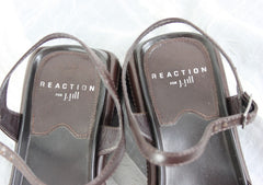 Nice Reaction for J Jill Beach Comber Sandals Size 8 Brown Leather Ankle Strap Womens - Jamies Closet - 5