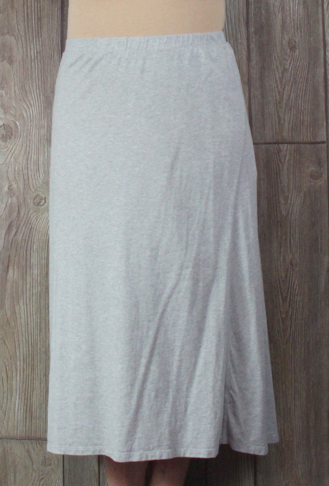 Cute J Jill Skirt M L size Light Gray Elastic Waist Long Soft Casual