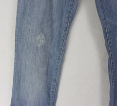 Cute Joes Jeans 28w size Embroidered Distressed Faded Blue Denim