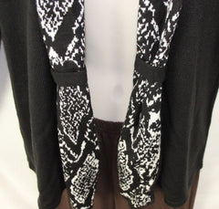 Nice Jones New York Signature S size Cardigan Sweater Black White Career Casual - Jamies Closet - 3