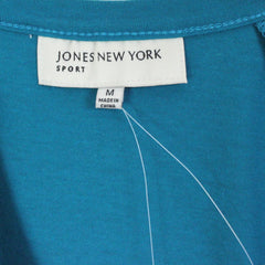 Jones New York Blouse New M size Teal Blue Nice for Work or Casual Wear - Jamies Closet - 6