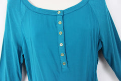 Jones New York Blouse New M size Teal Blue Nice for Work or Casual Wear - Jamies Closet - 2