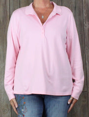 Nice Lands End XL 18 size Pink Polo Style Top Womens