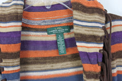 Cute Lauren Jeans Co XL size Cardigan Sweater Brown Purple Earthy Southwest