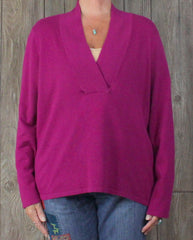 Pretty Lauren Ralph Lauren New Pink Sweater 2x sz Soft Career Casual Plus Silk Cashmere.