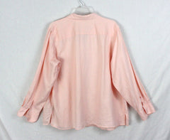 Lauren Ralph Lauren Blouse 1x size Pink Linen Womens Work Casual Top Plus