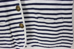 Cute Lauren Ralph Lauren M size Cardigan Sweater Jacket White Blue Stripe