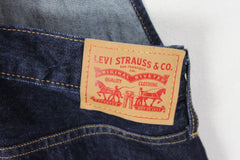 Cute Levis Heritage Bib Overalls Size M Blue Dark Wash Denim Tapered Leg