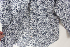 Cute Lilis Closet Blouse L size Blue White Floral Top Lightweight