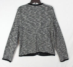 New Lucky Brand XL size Cardigan Sweater Black White Fitted Womens Work Casual