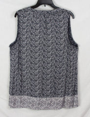 Cute Lucky Brand 1x size Tank Top Blue White Stretch