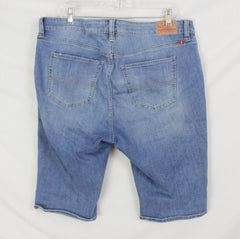 Cute Lucky Brand Ginger Bermuda Shorts 16w size Destressd Blue Denim Womens