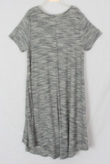 Nice Lularoe Shirt Dress M L size Gray Black Ivory Womens Comfortable Casual Stretch
